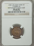 Civil War Merchants, Undated Mittnacht's Eagle Safe, New York, New York, MS66 Brown NGC.Fuld-NY630BA-2a....