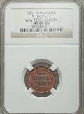 Civil War Merchants, 1861 W.G. Peck, Grocer, Chicago, Illinois, MS66 Brown NGC.Fuld-IL150AT-7a....