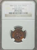 Civil War Patriotics, 1864 Union For Ever MS65 Brown NGC. Fuld-51/342a....