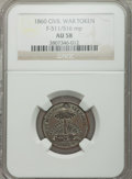 Civil War Patriotics, 1860 Wealth of the South AU58 NGC. Fuld-511/516mp....