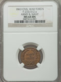 Civil War Patriotics, 1863 Army & Navy MS64 Brown NGC. Fuld-233/312a....