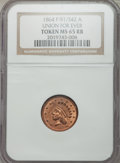 Civil War Patriotics, 1864 Union For Ever MS65 Red and Brown NGC, Fuld-51/342a....