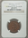 Civil War Merchants, 1863 V. Benner & Ch. Bendinger, New York, New York, AU58 NGC,Fuld-NY630F-1a; 1863 Frederick Rollwagen, Jr., New York, New Yor...(Total: 4 tokens)
