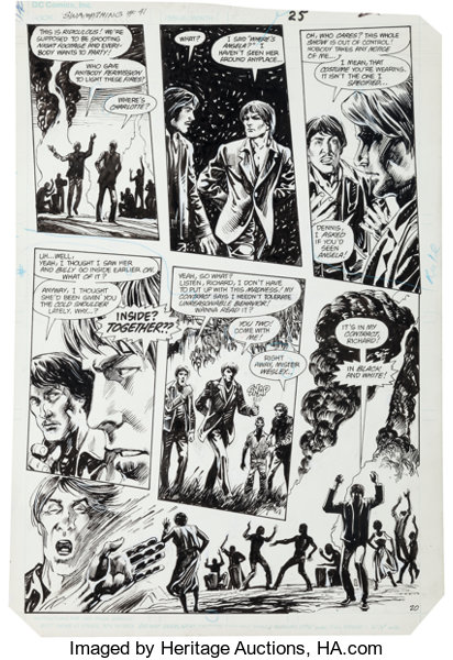 Original Comic ArtPanel Pages Stephen R Bissette And Alfredo Alcala Swamp Thing