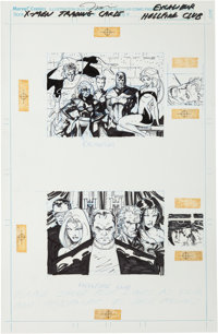 Jim Lee X-Men Trading Cards Series I - Excalibur/Hellfire Club Original Art (Marvel-Impel, 1992)