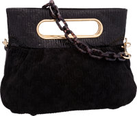 Louis Vuitton Limited Edition Black Motard Patent Leather & Suede After Dark Clutch Bag Very Good to Excellent