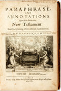 Books:Religion & Theology, H. Hammond. A Paraphrase...upon all the Books of the NewTestament. London: Richard Royston, 1653. Thick folio. 1,00...