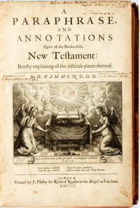 H. Hammond. A Paraphrase...upon all the Books of the New Testament. London: Richard Royston, 16