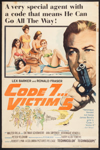 """Code 7, Victim 5 & Other Lot (Columbia, 1964). Posters (2) (40"""" X 60""""). Action. ... (Total: 2 Items)"""