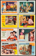 "Movie Posters:Western, The Fighting Kentuckian & Others Lot (Republic, R-1955). Title Lobby Card & Lobby Cards (37) (11"" X 14""). Western.. ... (Total: 39 Items)"