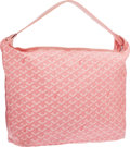 "Luxury Accessories:Bags, Goyard Pink Goyardine Canvas Fidji Hobo Bag. ExcellentCondition. 18"" Width x 11"" Height x 4.5"" Depth. ..."