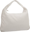 "Luxury Accessories:Bags, Bottega Veneta White Intrecciato Nappa Leather Large Veneta HoboBag . Very Good to Excellent Condition . 21"" Width x..."