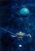 Pulp, Pulp-like, Digests, and Paperback Art, JOHN CONRAD BERKEY (American, 1932-2008). Viking Probe(Uranus). Acrylic and casein on board. 15.25 x 22 in.. Signedlow...