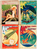 Books:Pulps, [Pulps]. Four Issues of Amazing Stories Quarterly.1930-M1091 wrappers, rebacked. One with different front wrapper,... (Total: 4 Items)