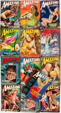 Books:Pulps, [Pulps]. Thirteen Issues of Amazing Stories. 1949. Originalwrappers. Very mild edgewear. Very good. . ... (Total: 13 Items)