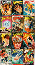 Books:Pulps, [Pulps]. Twelve Issues of Amazing Stories. 1950. Originalwrappers. Very mild edgewear. Very good. . ... (Total: 12 Items)