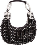 "Luxury Accessories:Bags, Chloe Black Beaded Evening Bag with Silver Hardware. Very GoodCondition. 10"" Width x 5"" Height x 2"" Depth . ..."