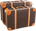 "Luxury Accessories:Travel/Trunks, Louis Vuitton Set of Two; Classic Monogram Canvas Airbus 78 &68 Suitcases. Fair Condition. 31"" Width x 21"" Height x1... (Total: 2 Items)"