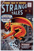 Silver Age (1956-1969):Horror, Strange Tales #74 (Marvel, 1960) Condition: VG/FN....