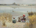 Fine Art - Painting, American:Contemporary   (1950 to present)  , MIAN SITU (Chinese/American, b. 1953). Collecting Water. Oilon canvas. 14 x 18 inches (35.6 x 45.7 cm). Signed lower ri...