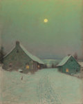 Paintings, BIRGE HARRISON (American, 1854-1929). Christmas Eve. Oil on canvas. 20-1/4 x 16-1/4 inches (51.4 x 41.3 cm). Signed lowe...