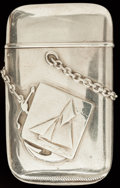 Silver Smalls:Match Safes, A HOWARD SILVER MATCH SAFE, Providence, Rhode Island, circa 1895.Marks: STERLING, (clover), 5432. 2-3/8 inches high...