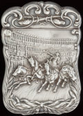 Silver Smalls:Match Safes, AN AMERICAN SILVER MATCH SAFE, circa 1900. Marks: STERLING.2-3/8 inches high (6.2 cm). 1.15 troy ounces. FROM THE EST...