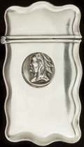 Silver Smalls:Match Safes, CARTER & HOWE SILVER TRICK MATCH SAFE, New York, New York,circa 1900. Marks: STERLING. 2-1/2 inches high (6.4 cm).1.00...