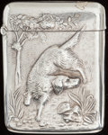 Silver Smalls:Match Safes, A LA PIERRE SILVER MATCH SAFE, New York, New York & Newark, NewJersey, circa 1900. Marks: L, STERLING. 2-1/2 inches hig...