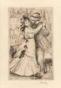 Fine Art - Work on Paper:Print, PIERRE-AUGUSTE RENOIR (French, 1841-1919). La Danse à lacampagne, 2e planche, circa 1890. Softground etching on wovepa...
