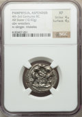 Ancients:Greek, Ancients: PAMPHYLIA. Aspendus. Ca. 380/75-330/25 BC. AR stater(10.92 gm)....