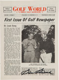 Golf Collectibles:Miscellaneous, 1947 First Issue Of Golf World Signed By Sam Snead....