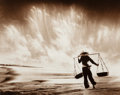 Photographs, DON HONG-OAI (Chinese, 1929-2004). Sand Storm, Vietnam, 1969. Toned gelatin silver, 1989. 15-3/4 x 19-3/4 inches (40.0 x...