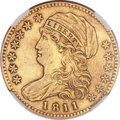 Early Half Eagles, 1811 $5 Small 5 -- Repaired -- NGC Details. AU. BD-2, R.3....