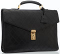 Luxury Accessories:Bags, Chanel Black Quilted Lambskin Leather Briefcase with Gold Hardware. ...