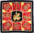 "Luxury Accessories:Accessories, Hermes 90cm Red & Black ""Les Muserolles,"" by ChristianeVauzelles Silk Scarf . ..."
