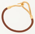 Luxury Accessories:Accessories, Hermes Natural Barenia Leather Jumbo Bracelet with Gold Hardware....