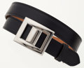 Luxury Accessories:Accessories, Hermes 90cm Black Calf Box Leather Belt with Palladium Hardware....