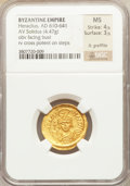 Ancients:Byzantine, Ancients: Heraclius (AD 610-641). AV solidus (4.47 gm)....