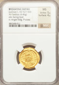 Ancients:Byzantine, Ancients: Justinian I the Great (AD 527-565). AV solidus (4.46gm)....