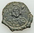 Ancients:Byzantine, Ancients: Justinian I - Constantine IV (AD 527-685). Lot of three(3) Æ folles. ... (Total: 3 coins)