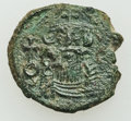 Ancients:Byzantine, Ancients: Constans II Pogonatus (AD 641-668). Lot of three (3) Æcoins of varying denominations. ... (Total: 3 coins)