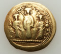 Ancients:Byzantine, Ancients: Romanus IV Diogenes (1068-1071), with Eudocia, MichaelVII, Constantius, and Andronicus. AV histamenon nomisma (3.01gm). ...