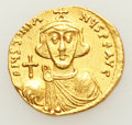 Ancients:Byzantine, Ancients: Justinian II, first reign (AD 685-695). AV solidus (19mm,4.16 gm, 6h). ...