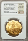 Ancients:Byzantine, Ancients: Alexius I Comnenus (AD 1081-1118). AV hyperpyron (4.21gm)....