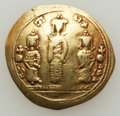 Ancients:Byzantine, Ancients: Romanus IV Diogenes (1068-1071), with Eudocia, MichaelVII, Constantius, and Andronicus. AV histamenon nomisma (2.82gm). ...