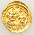 Ancients:Byzantine, Ancients: Heraclius (AD 610-641), with Heraclius Constantine (AD613-641). AV solidus (4.34 gm)....