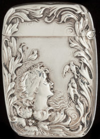 A FOSTER & BAILEY SILVER MATCH SAFE, Providence, Rhode Island, circa 1890 Marks: F&B, STERLING, 2076