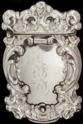 Silver Smalls:Match Safes, AN AMERICAN SILVER HIDDEN PHOTO MATCH SAFE, Designed by Even H.Eastwood, circa 1890. Marks: STERLING 925, PAT. APLD. FOR...