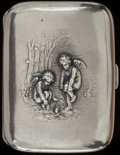 Silver Smalls:Cigarette Cases, AN UNGER BROTHERS CHILLY PATTERN SILVER AND SILVER GILTCIGARETTE CASE, Newark, New Jersey, circa 1900. Mark...